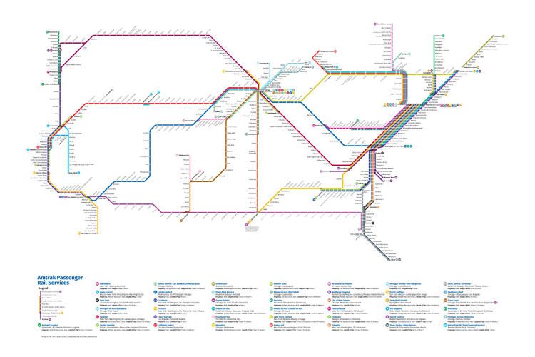 This Redesigned Map Of US Train Routes Might Make You Actually - Map of us train routes